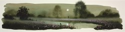 I Love You (study) by John Waterhouse - Original Oil on Paper sized 22x6 inches. Available from Whitewall Galleries